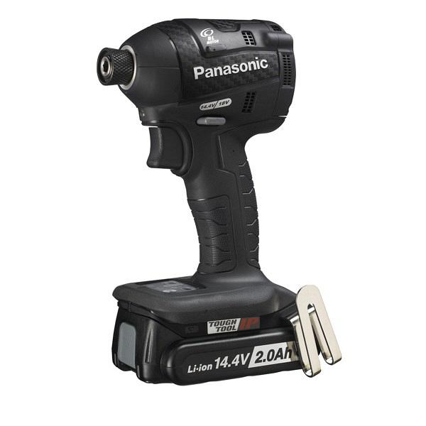 パナソニック Panasonic 充電インパクトドライバ14.4V 2.0Ah ブラック EZ75A7LF2F-B 1台 (直送品)