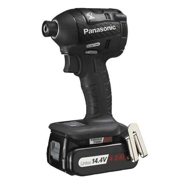 パナソニック Panasonic 充電インパクトドライバ14.4V 4.2Ah ブラック EZ75A7LS2F-B 1台 (直送品)