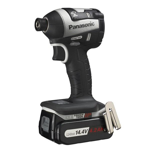 パナソニック Panasonic 充電インパクトドライバ14.4V 4.2Ah グレー EZ75A7LS2F-H 1台 (直送品)