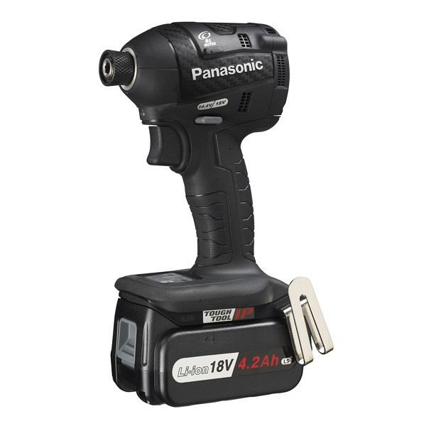 パナソニック Panasonic 充電インパクトドライバ18V 4.2Ah ブラック EZ75A7LS2G-B 1台 (直送品)