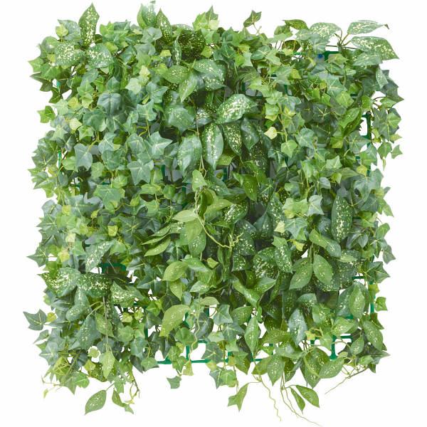 タカショー 人工観葉植物 壁面アレンジ アイビー ネット付 50×50cm