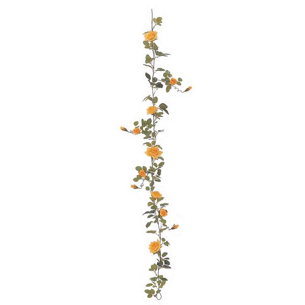 タカショー 人工観葉植物 ガーランド ローズ イエロー180cm 1セット(6本入)