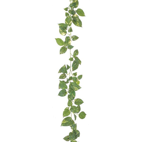 タカショー 人工観葉植物 ガーランド ポトス ワイヤー入 180cm 1セット(6本入)