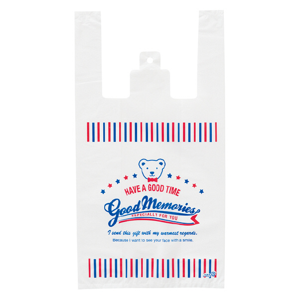 ヘッズ レジ袋 アメリカンジョイベアレジバッグ Mサイズ AJB-M-K 1箱(100枚入×40袋) (直送品)