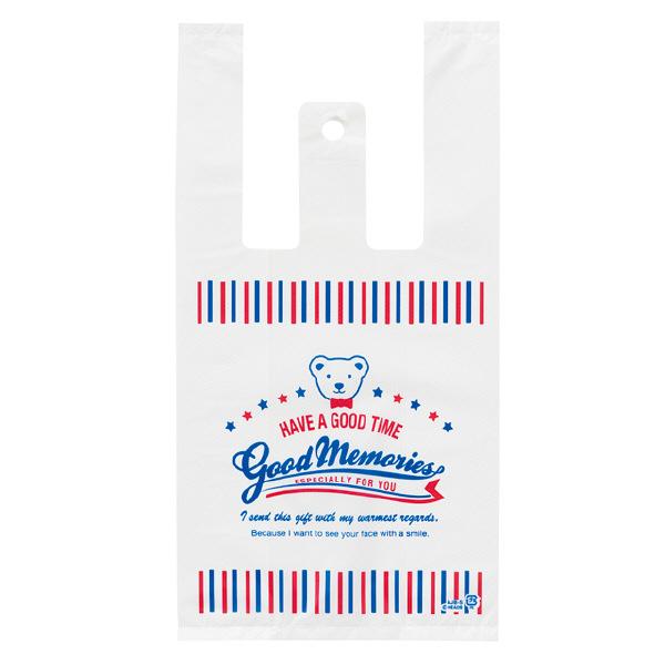 ヘッズ レジ袋 アメリカンジョイベアレジバッグ Sサイズ AJB-S-K 1箱(100枚入×60袋) (直送品)