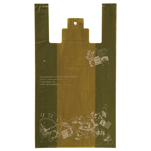ヘッズ レジ袋 アンティークグリーンレジバッグ Lサイズ AQG-L-K 1箱(100枚入×20袋) (直送品)
