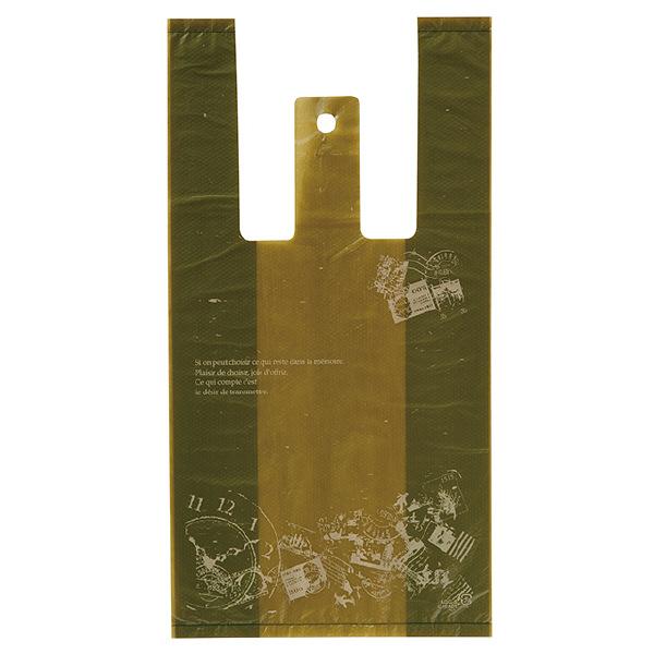 ヘッズ レジ袋 アンティークグリーンレジバッグ Sサイズ AQG-S-K 1箱(100枚入×60袋) (直送品)