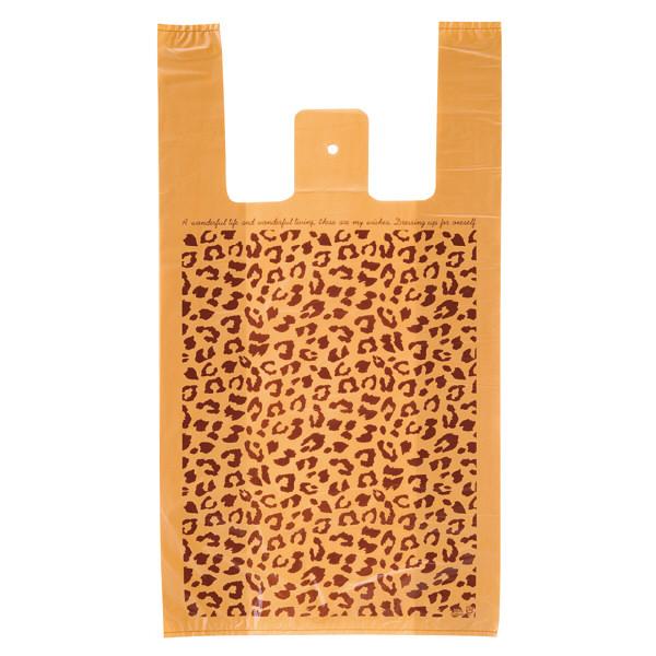 ヘッズ レジ袋 レオパードレジバッグ Lサイズ LEO-L-K 1箱(100枚入×20袋) (直送品)