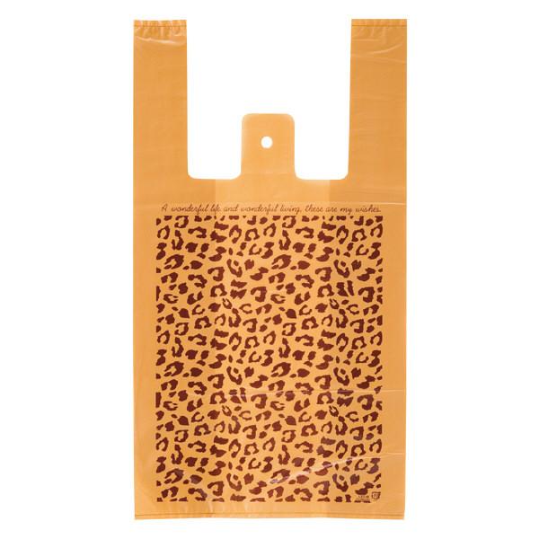 ヘッズ レジ袋 レオパードレジバッグ Mサイズ LEO-M-K 1箱(100枚入×40袋) (直送品)