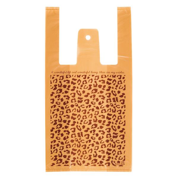 ヘッズ レジ袋 レオパードレジバッグ Sサイズ LEO-S-K 1箱(100枚入×60袋) (直送品)