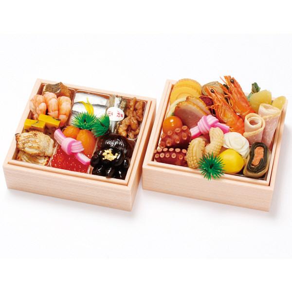 京都わらびの里 料亭の冷凍おせち 二段重