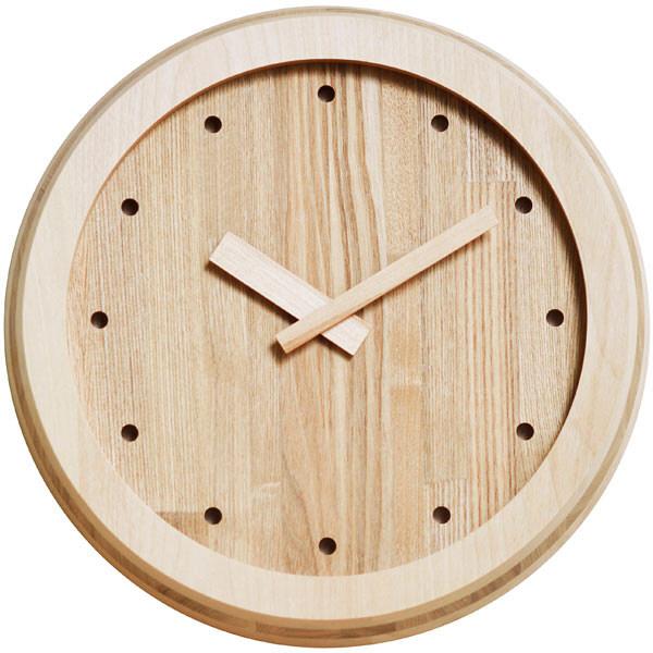 壁掛けクォーツ時計 En Clock カバ ニレ 1個 ササキ工芸 (直送品)