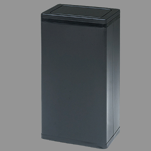 ぶんぶく 角型ロータリー屑入れ ゴミ箱 23.2L Bライン ブラック/中缶付 1個 (直送品)