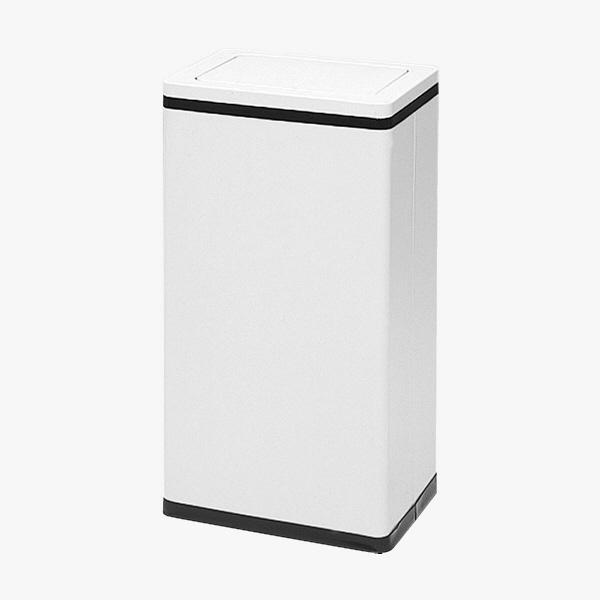 ぶんぶく 角型ロータリー屑入れ ゴミ箱 23.2L Bライン ネオホワイト/中缶付 1個 (直送品)