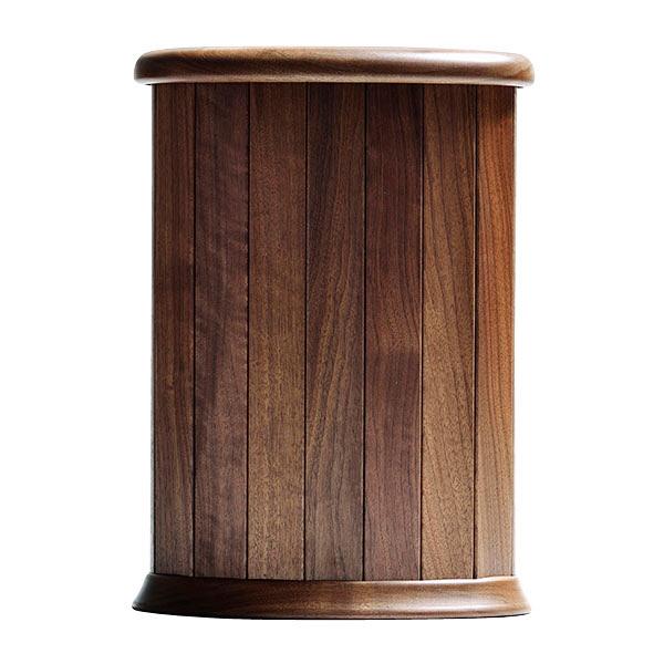 天然木 くずかご ゴミ箱 楕円 L ウォルナット 1個 ササキ工芸 (直送品)