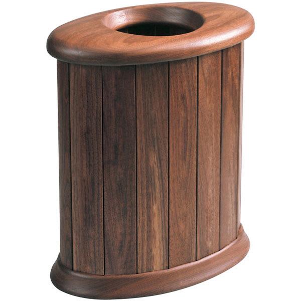 天然木 くずかご ゴミ箱 楕円 S ウォルナット 1個 ササキ工芸 (直送品)