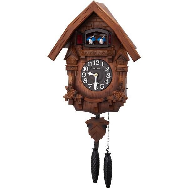 リズム時計(RHYTHM) カッコーテレスR [クォーツ 掛け 時計] 4MJ236RH06 (直送品)