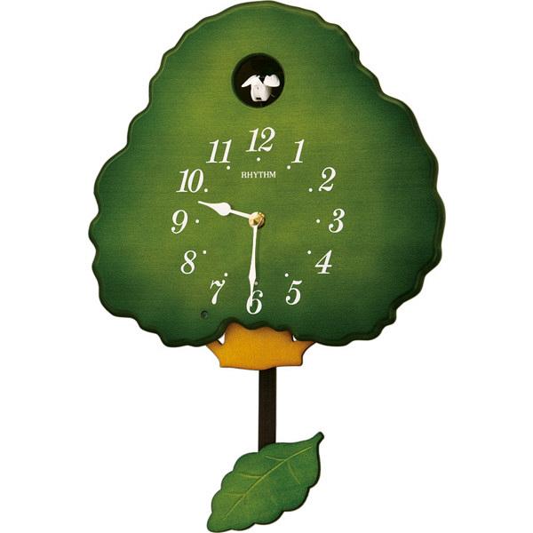 リズム時計(RHYTHM) グレイスカッコー413R [クォーツ 掛け 時計] 4MJ713RH05 (直送品)