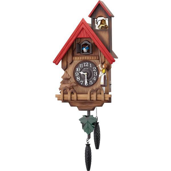 リズム時計(RHYTHM) カッコーチロリアンR [クォーツ 掛け 時計] 4MJ732RH06 (直送品)