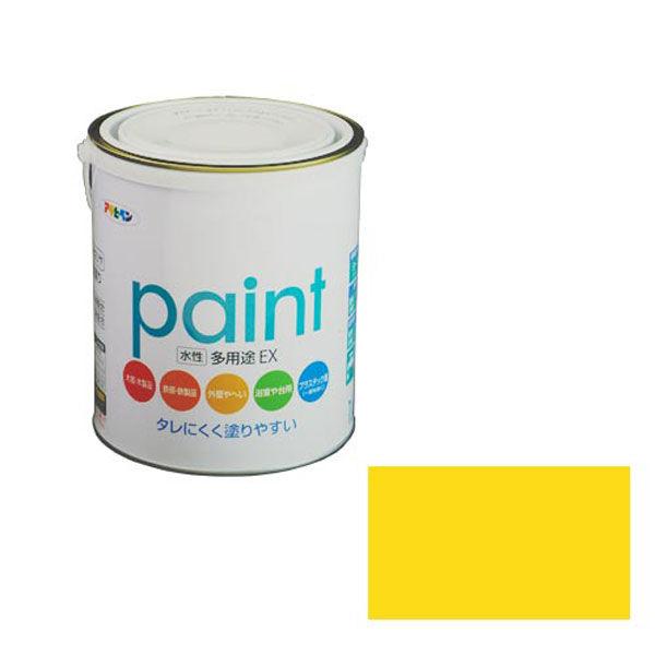 アサヒペン AP 水性多用途EX 1.6L 黄色 as117 (直送品)