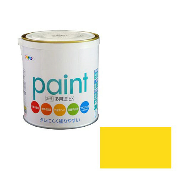 アサヒペン AP 水性多用途EX 0.7L 黄色 as137 (直送品)