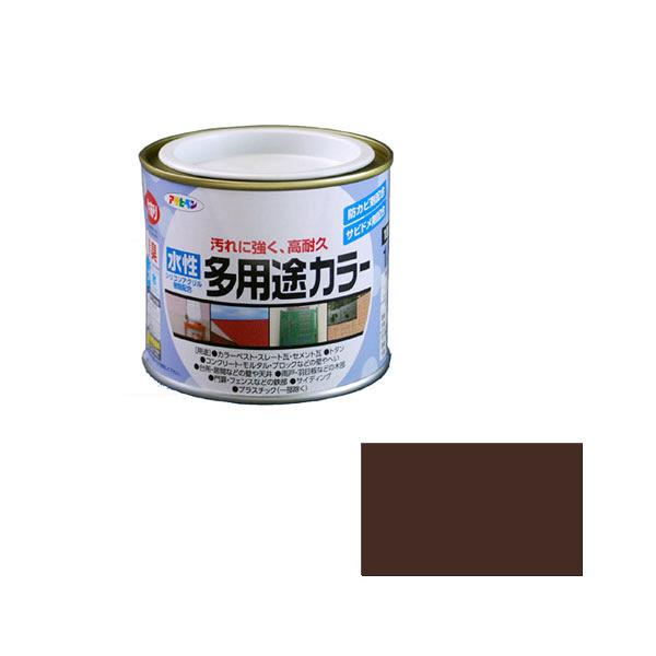 アサヒペン AP 水性多用途カラー 1/5L こげ茶 as18 (直送品)