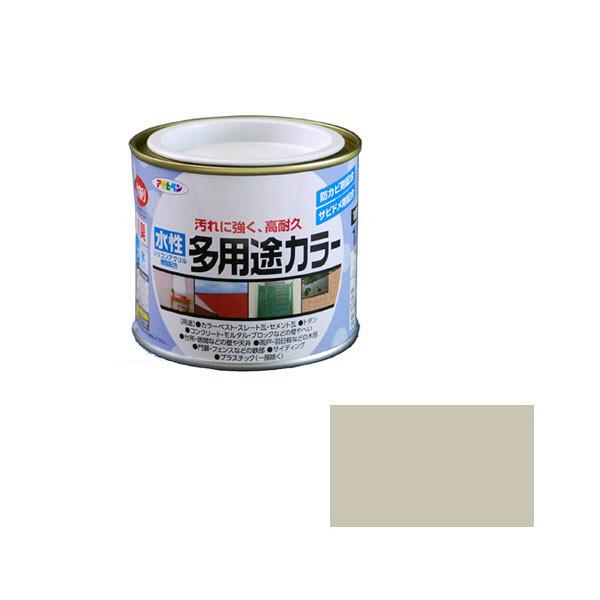 アサヒペン AP 水性多用途カラー 1/5L ソフトグレー as19 (直送品)