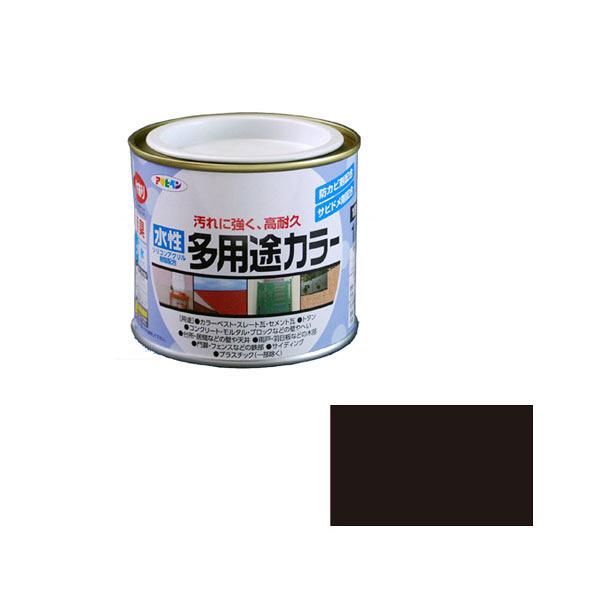 アサヒペン AP 水性多用途カラー 1/5L ツヤ消し黒 as24 (直送品)