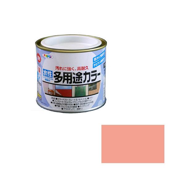 アサヒペン AP 水性多用途カラー 1/5L コスモスピンク as26 (直送品)