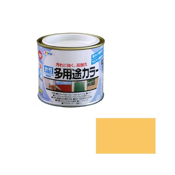 アサヒペン AP 水性多用途カラー 1/5L ブライトイエロー as27 (直送品)