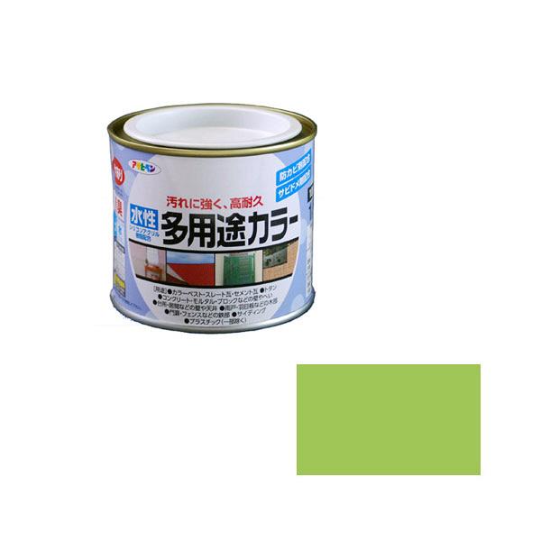 アサヒペン AP 水性多用途カラー 1/5L フレッシュグリーン as28 (直送品)