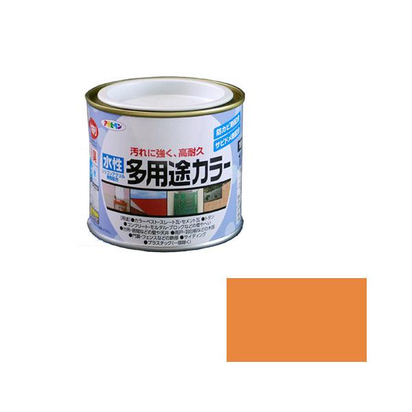 アサヒペン AP 水性多用途カラー 1/5L オレンジ as34 (直送品)