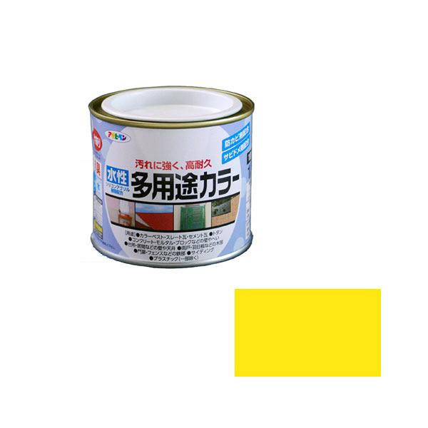 アサヒペン AP 水性多用途カラー 1/5L 黄色 as35 (直送品)
