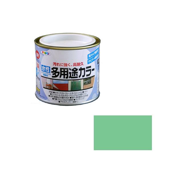 アサヒペン AP 水性多用途カラー 1/5L ライトグリーン as36 (直送品)