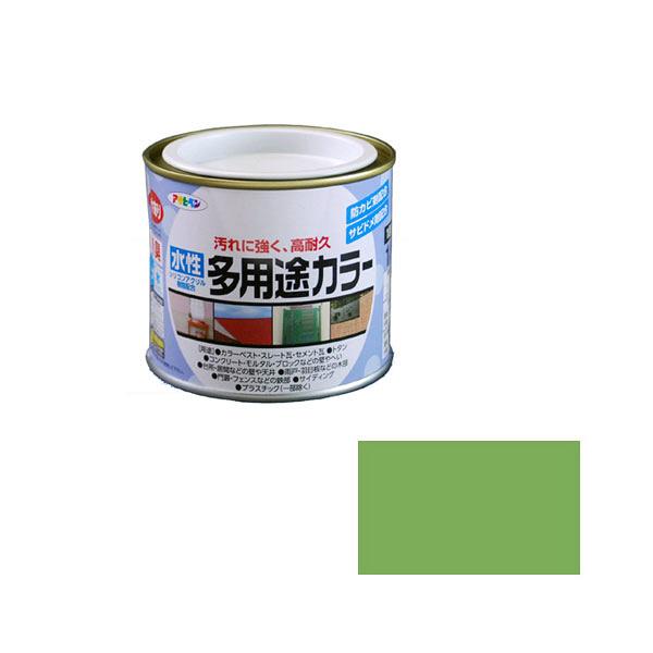 アサヒペン AP 水性多用途カラー 1/5L 若草色 as37 (直送品)