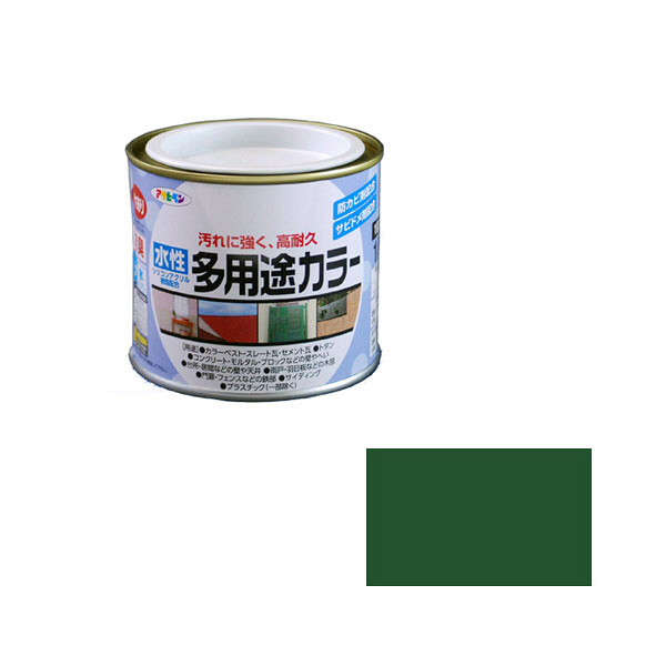アサヒペン AP 水性多用途カラー 1/5L 緑 as38 (直送品)