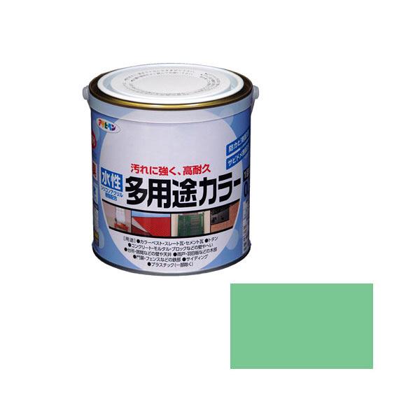 アサヒペン AP 水性多用途カラー 0.7L ライトグリーン as42 (直送品)