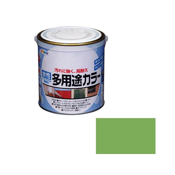 アサヒペン AP 水性多用途カラー 0.7L 若草色 as43 (直送品)