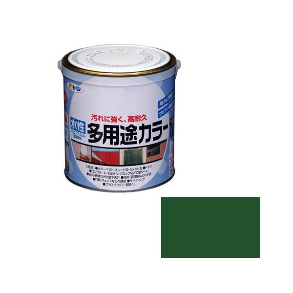 アサヒペン AP 水性多用途カラー 0.7L 緑 as44 (直送品)