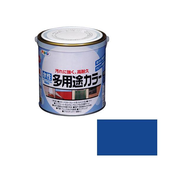 アサヒペン AP 水性多用途カラー 0.7L 青 as46 (直送品)