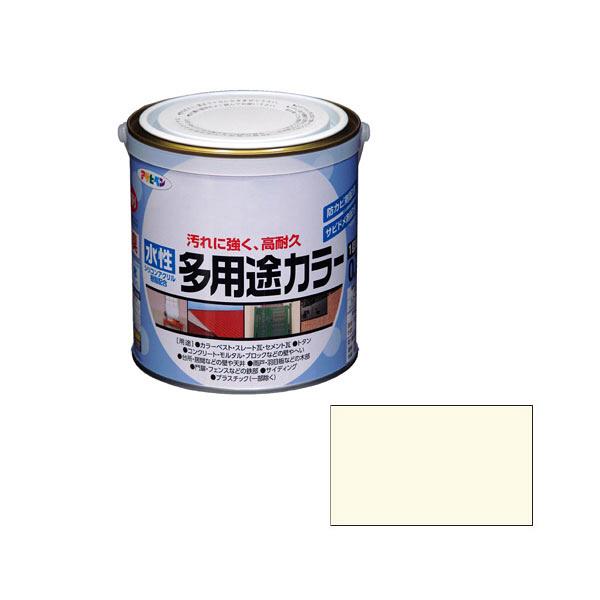 アサヒペン AP 水性多用途カラー 0.7L バニラホワイト as52 (直送品)