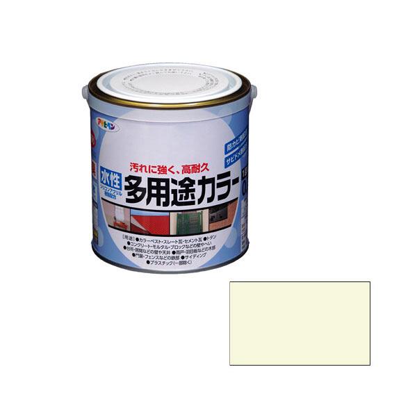 アサヒペン AP 水性多用途カラー 0.7L ミルキーホワイト as53 (直送品)