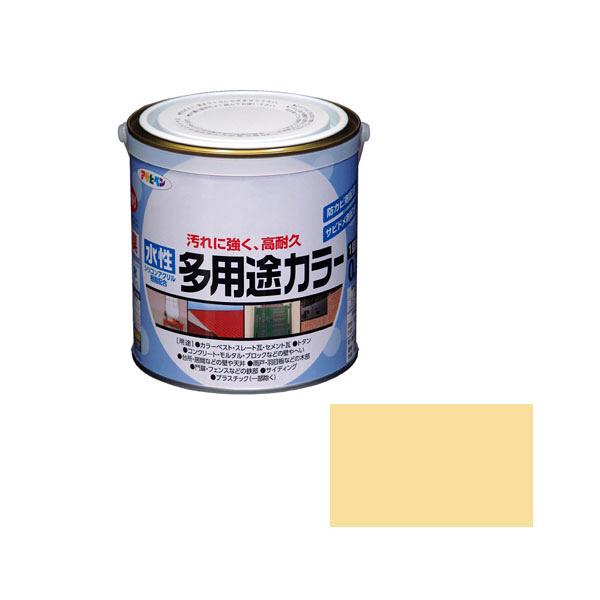 アサヒペン AP 水性多用途カラー 0.7L クリーム as56 (直送品)