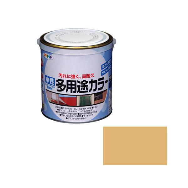 アサヒペン AP 水性多用途カラー 0.7L シトラスイエロー as59 (直送品)