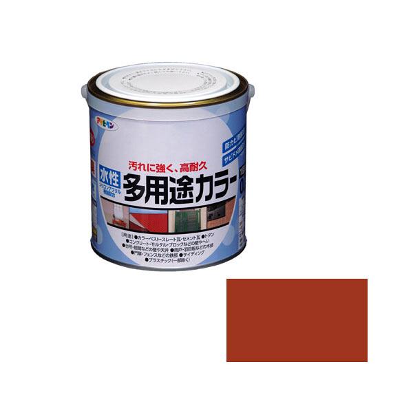 アサヒペン AP 水性多用途カラー 0.7L 赤さび as63 (直送品)