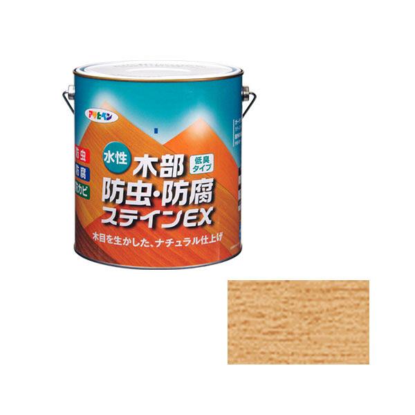 アサヒペン AP 水性木部防虫防腐ステインEX 3L透明クリヤ as86 (直送品)