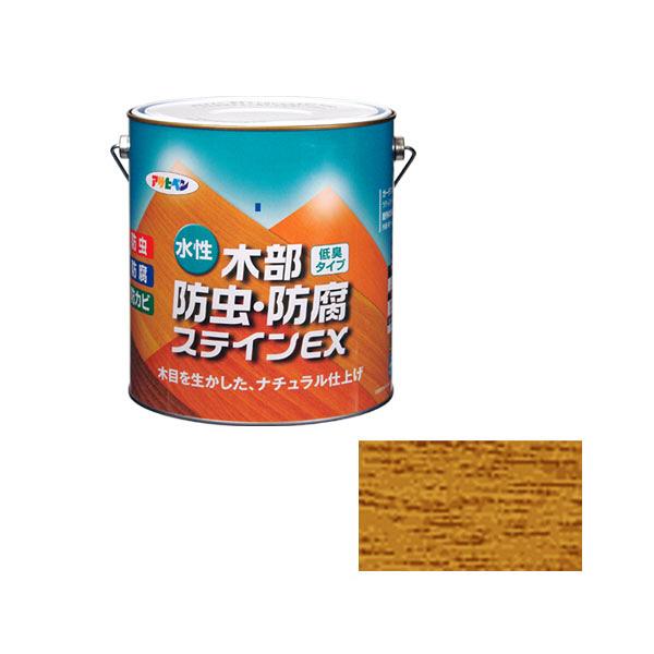 アサヒペン AP 水性木部防虫防腐ステインEX 3L パイン as87 (直送品)