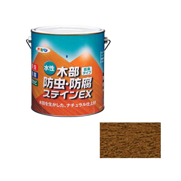 アサヒペン AP 水性木部防虫防腐ステインEX 3L ウォルナット as90 (直送品)