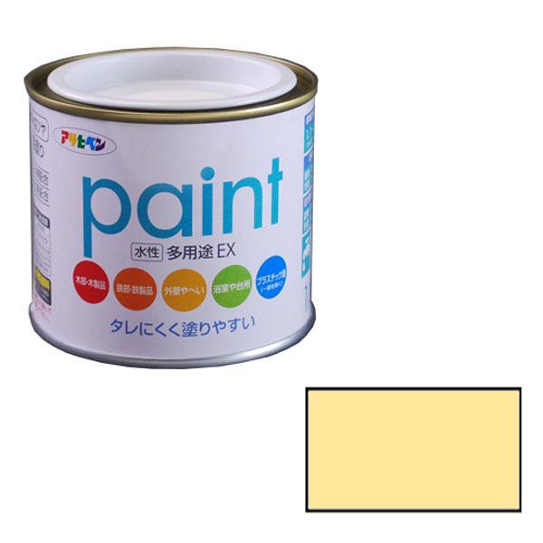 アサヒペン AP 水性多用途EX 1/5L クリーム色 as91 (直送品)
