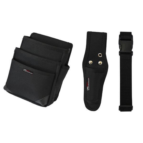 三共コーポレーション DBLTACT 腰袋3点セット DT-3SET-BK (直送品)